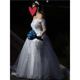 Vestido De Noiva Tam. 38 Completo - Usado 1 Vez