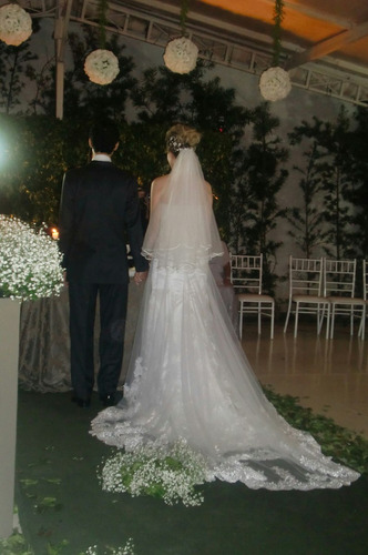 vestido de noiva tomara que caia renda sereia la sposa