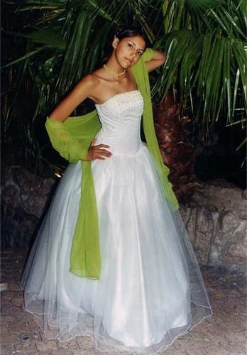 vestido de novia 15 años, bautismo, comunion. nuevos