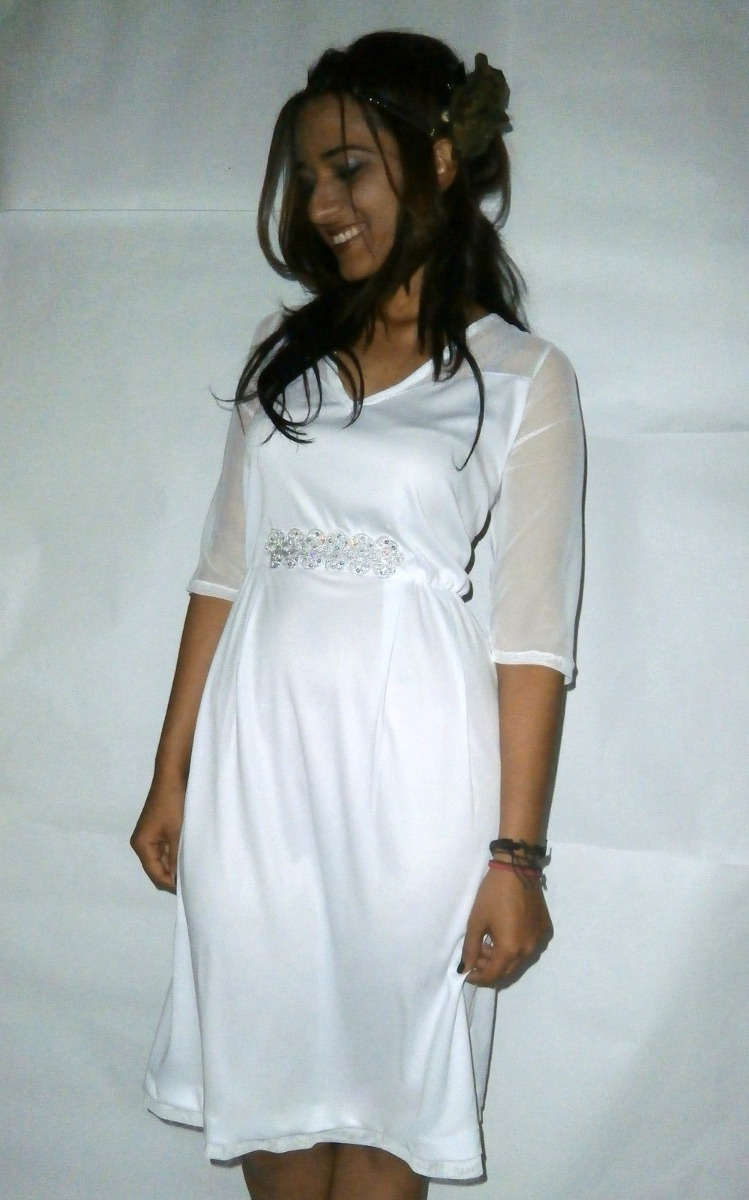 Vestido De Novia Blanco Boda Civil Tallas Hasta La 5xl - Bs. 60.948 ...