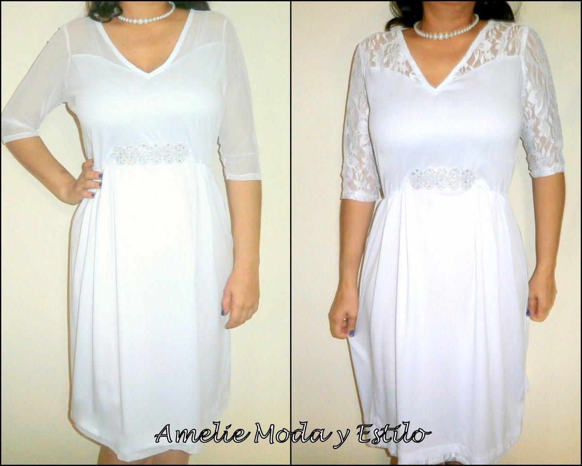 Vestido De Novia Blanco Boda Civil Tallas Hasta La 5xl - Bs. 15.697 ...