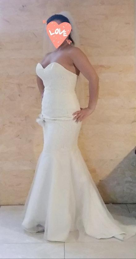 vestido de novia blanco corte sirena - $ 6,000.00 en mercado libre