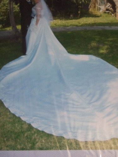 vestido de novia blanco en perfecto estado cauda larga