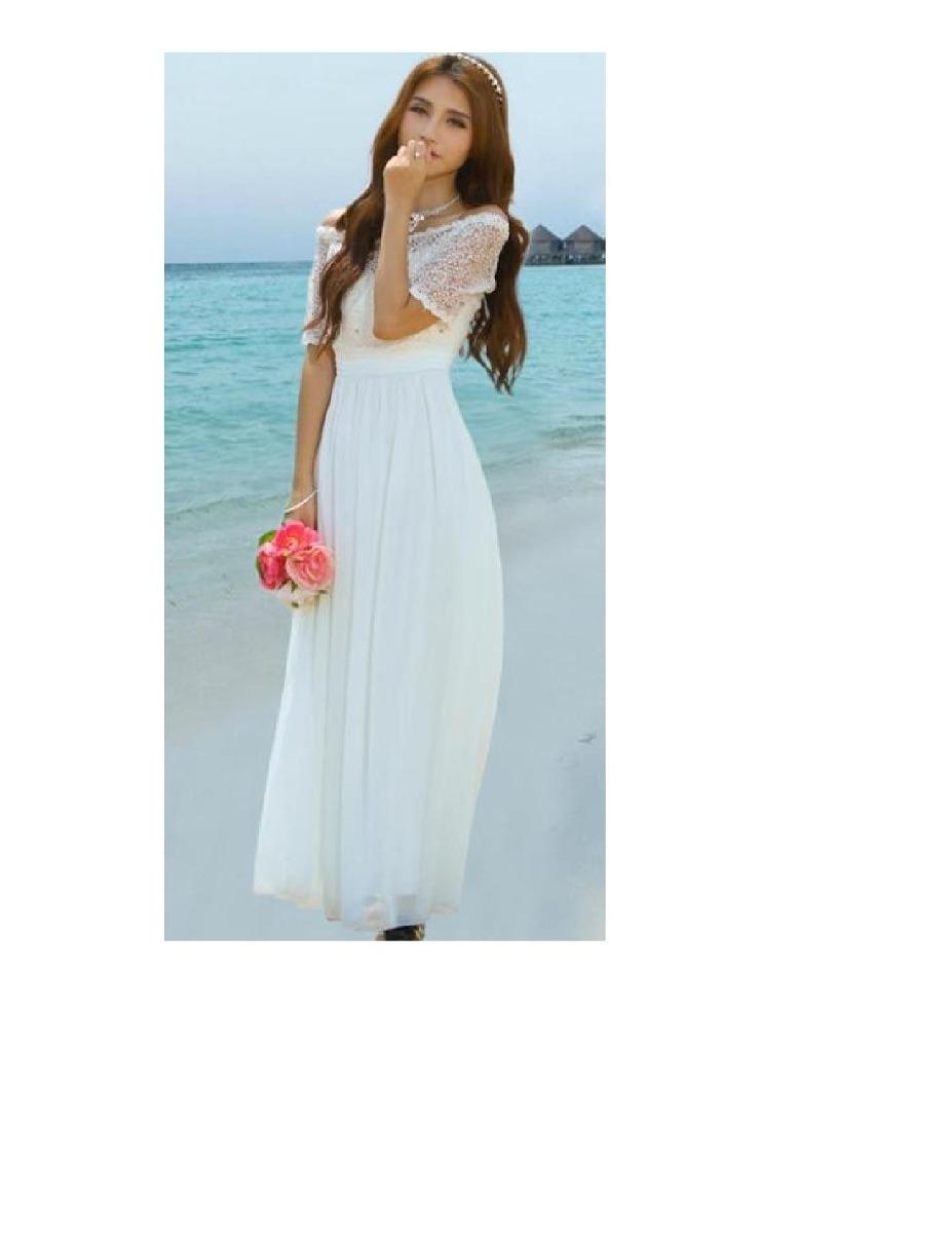 Vestido De Novia Blanco Gasa Y Encaje Piedras Rhinestone. - $ 57.000 ...