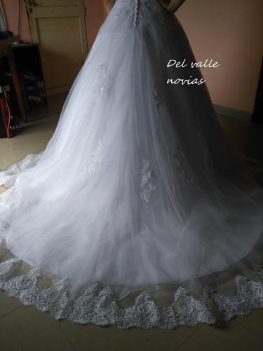 vestido de novia-blanco marfil o champagn personalizado