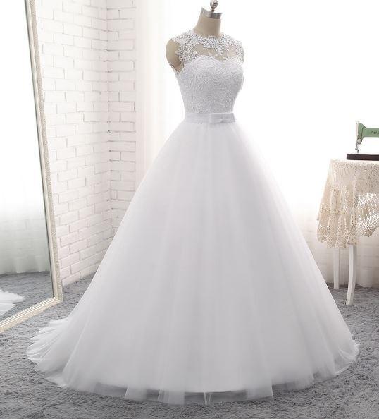vestido de novia blanco, marfil, o champagne-personalizado