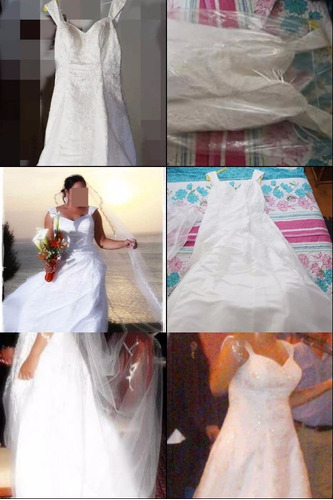 vestido de novia blanco pedreria ajustable talla l alquil