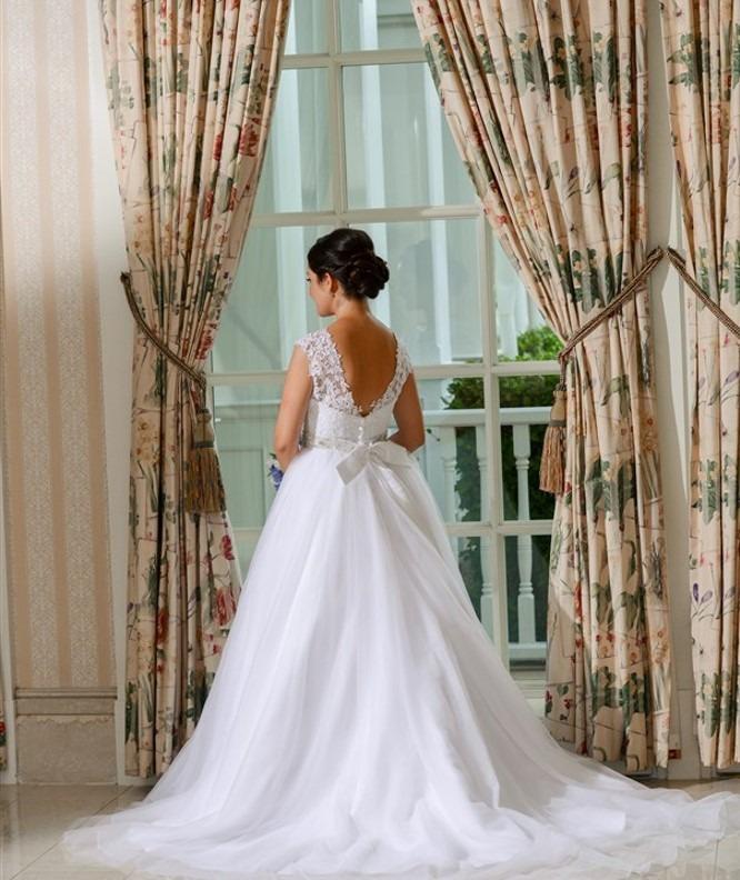vestido de novia blanco usado corte italiano - $ 5,980.00 en mercado