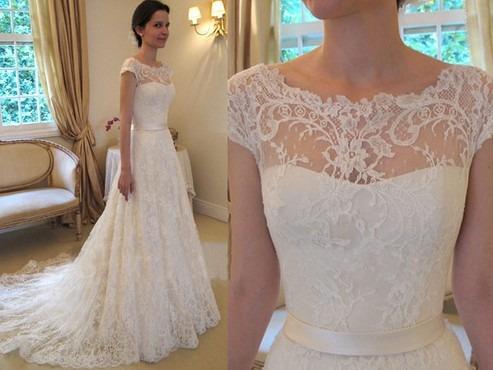 Vestidos de novia en organza