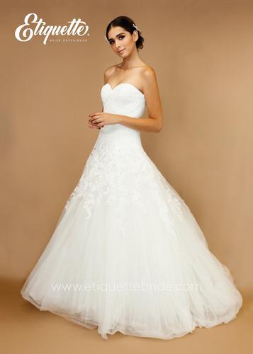 vestido de novia boda economico talla 6 corte a bonito