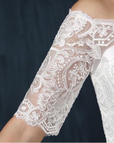 vestido de novia boda encaje manga envio gratis