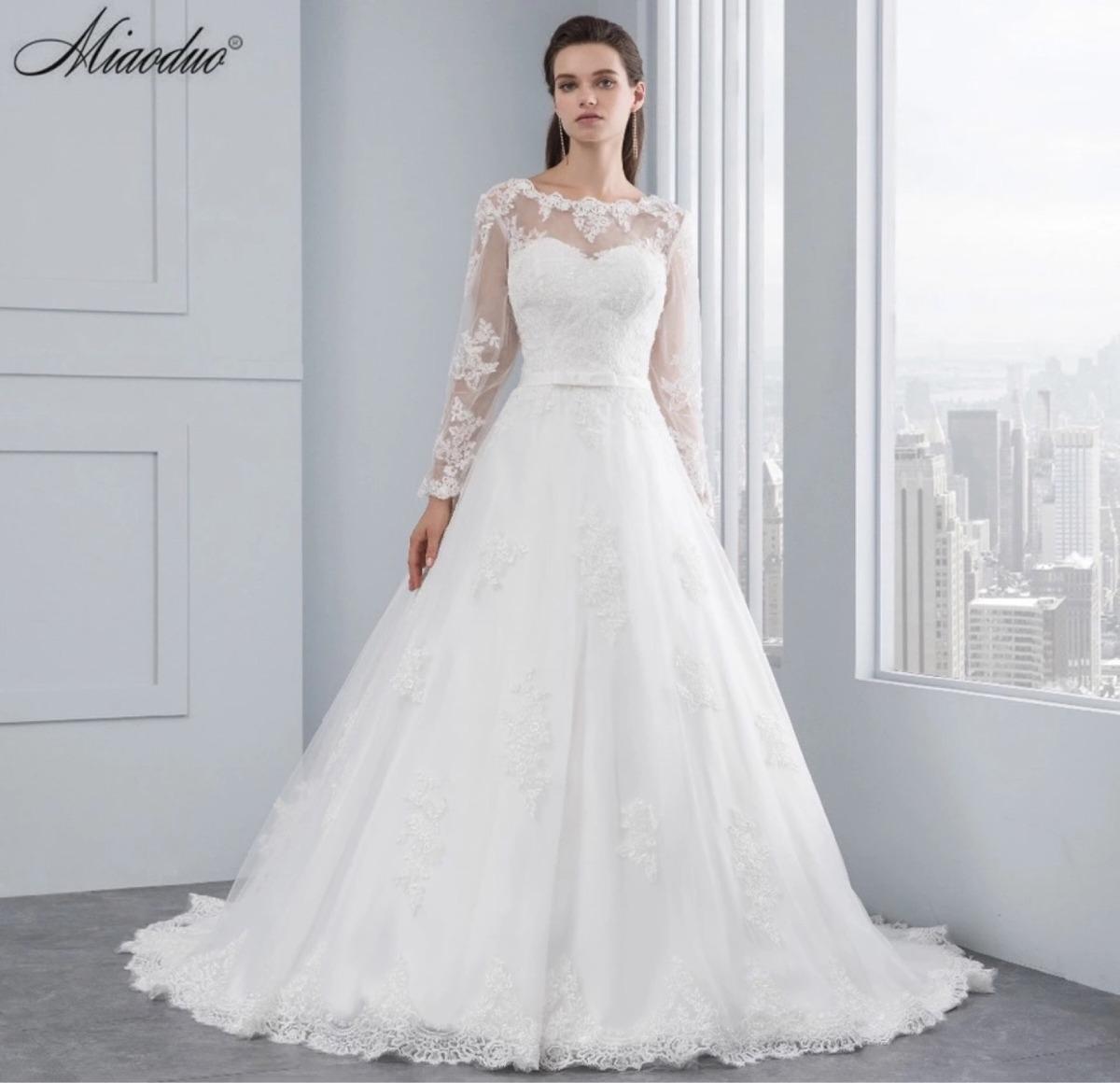 Vestidos de novia con manga larga mercadolibre
