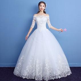 Vestido De Novia Boda Encaje Mod 11d09 Envio Gratis