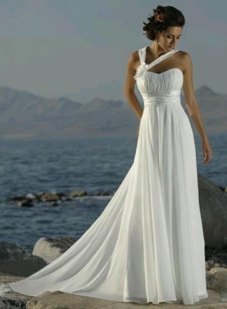 Vestido De Novia Boda Largo Para Playa Elegante