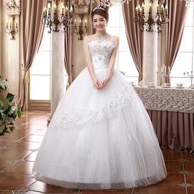 Vestido De Novia Boda Lentejuelas Blanco Importado