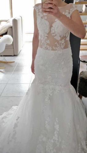 vestido de novia boda sirena vintage ivory blanco