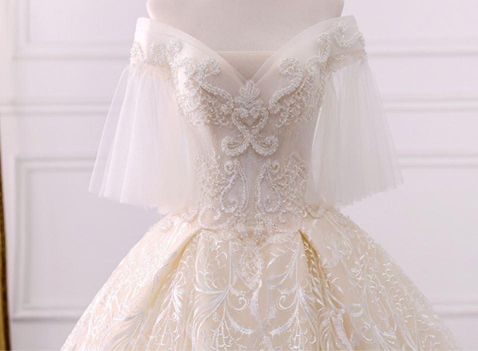 vestido de novia, cola de 1 metro-personalizado - $ 14.900,00 en