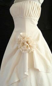Vestido De Novia Color Beige Talla 3 9 Ajustable
