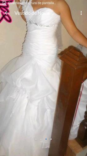 vestido de novia color blanco