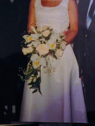 vestido de novia color marfil - talla 8