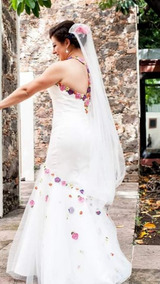 Vestido De Novia Con Bordado Mexicano