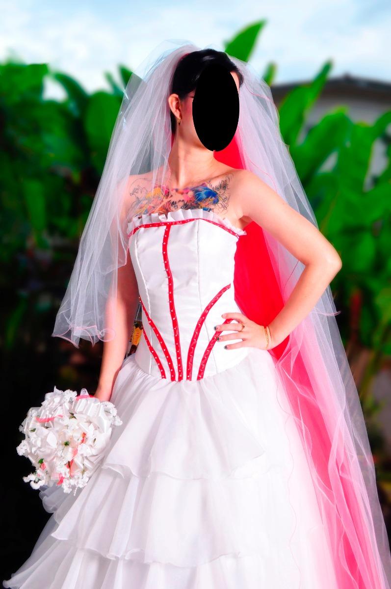Vestido De Novia Con Doble Velo (rojo Y Blanco) De 6 Mts. - Bs. 0,55 ...