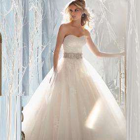 Vestido de novia corto adelante largo atras