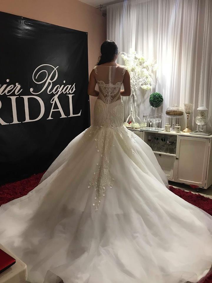 vestido de novia con pedrería corte sirena - $ 8,500.00 en mercado libre