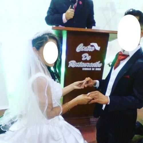 vestido de novia con todo tocado copas  importado