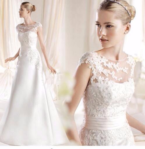 vestido de novia corte a escote barco hermoso 2 - $ 2,883.76 en