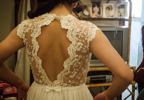 vestido de novia corte imperio unico us