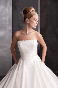 Vestido De Novia Corte Princesa Color Perla Prime White