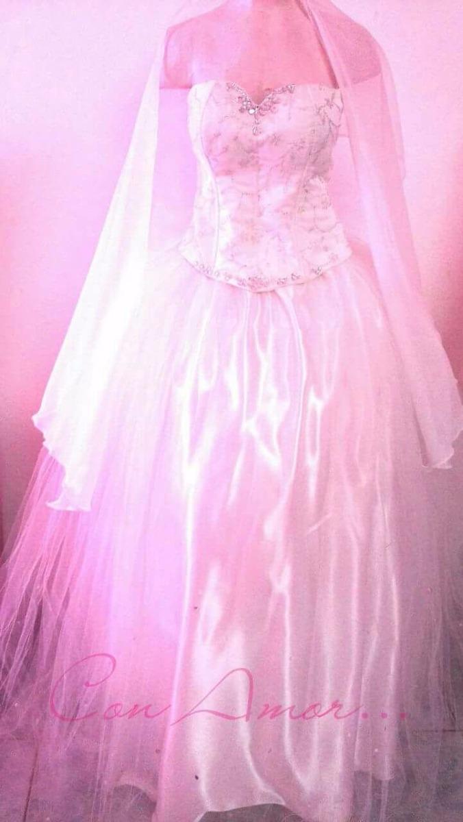 Vestido De Novia, Corte Princesa Como Nuevo - $ 2.500,00 en Mercado ...