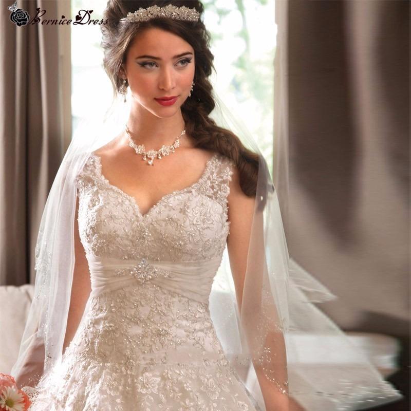 vestido de novia corte princesa y encaje por pedido - $ 5,900.00 en