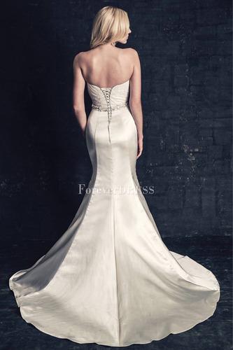 vestido de novia corte sirena blanco