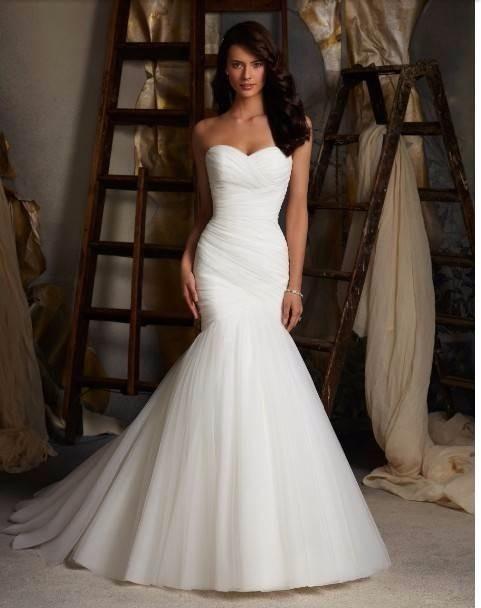 vestido de novia corte sirena blanco strapless oferta - $ 1,800.00