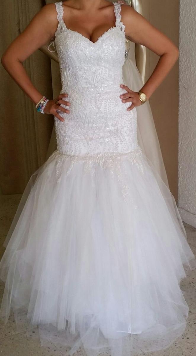 Vestido de novia corte sirena bordado