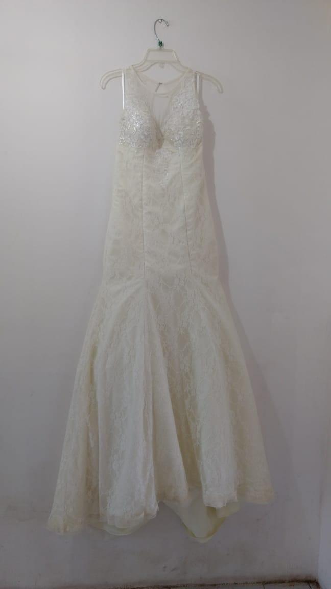 vestido de novia corte sirena color beige - $ 3,290.00 en mercado libre