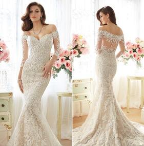 mejor selección de 2019 revisa mejor precio Vestido De Novia Color Ivory Con Encaje Vestidos Mujer ...