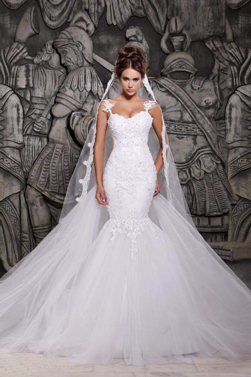 Vestidos de novia de cola de sirena