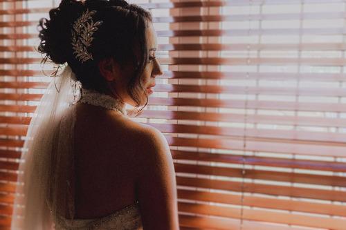 vestido de novia cuello halter, usado