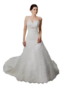 3750ec23e Vestido De Novia De Casa Iza Monterrey Modelo 1139 Straple