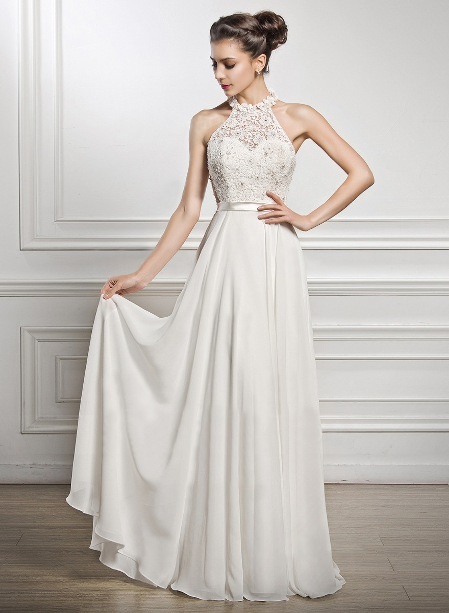 Vestido De Novia De Encaje Guipiur Y Gasa - $ 4.000,00 en Mercado Libre