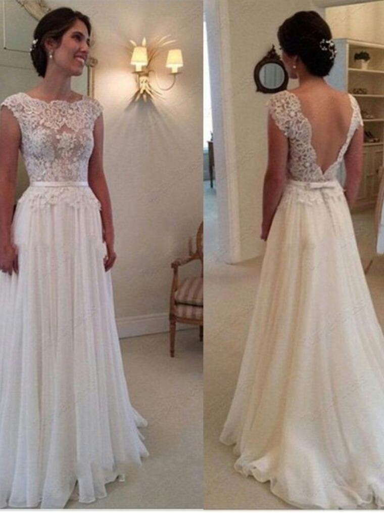 vestido de novia de encaje y muselina de seda $6999 - $ 5.500,00 en