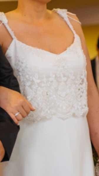vestido de novia , diseñado por son santas - $ 13.000,00 en mercado