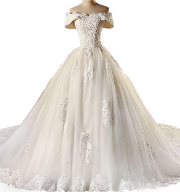 vestido de novia diseño princesa 2018 c/cola (directo china