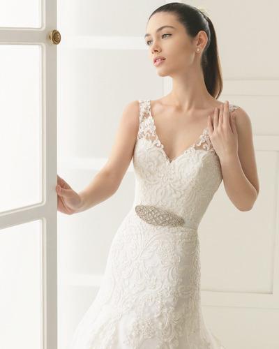 vestido de novia elina marca rosa clara