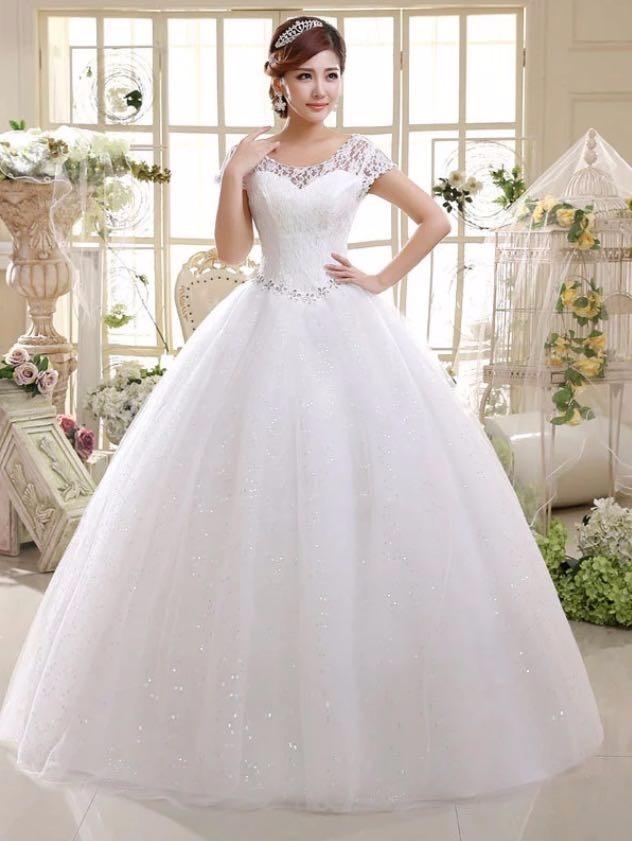 vestido de novia en encaje, tirantes, estilo princesa - $ 2,599.00