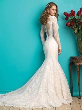 vestido de novia encaje corte sirena importado nuevo