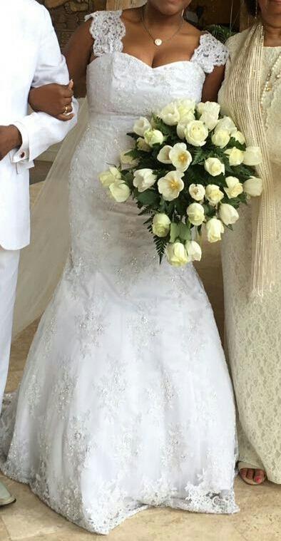 vestido de novia encaje frances - $ 5,000.00 en mercado libre
